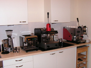 A constellation I owned only for a week or so, 3 espresso machines and one grinder